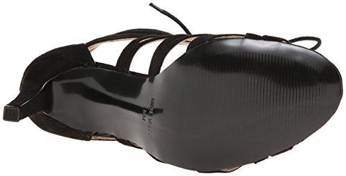 Nine Authority Ouest Suede Dress Sandal Black