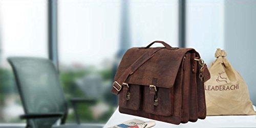 31a6954ace 54% OFF on Leaderachi- Hunter Leather Laptop Briefcase Bag  Veneto ...