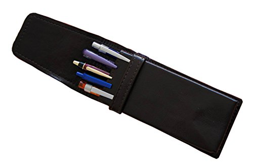 Leder Etui für 5 Schreibgeräte, echtes Leder!