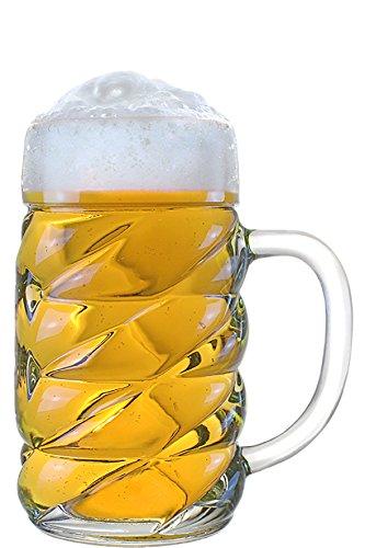 Stölzle Oberglas Diamond Maßkrug 1l - Biermaßkrug, Oktoberfest, modernes Design, 6 Stück, spülmaschinenfest, hochwertige Qualität (Design Krug)