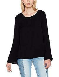 VILA CLOTHES Damen Bluse Vibrava L/S Top/DC/GV, Schwarz (Black), X-Small