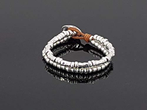 Imagen de pulsera zamak, pulsera cuero, leather bracelet, boho brazelet, uno de 50 style bracelet, woman bracelet