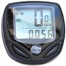 Sodial Speedo - Cuentakilómetros inalámbrico para bicicletas, color negro