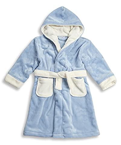 BABYTOWN Childrens Kids Infant Boys Fleece Dressing Gown Robes Super Soft Cosy (2-3 Yrs (Height: 92-98cm)) (Boys - Blue)