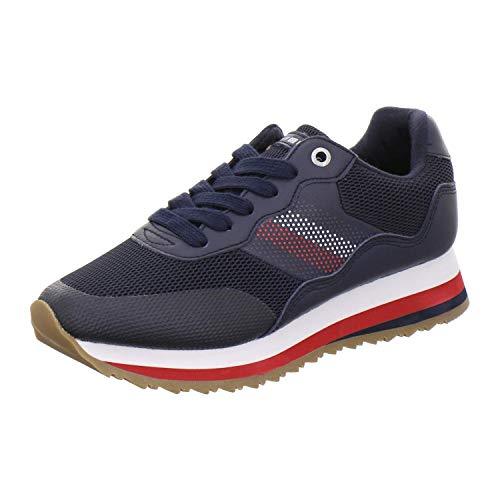 Tommy Hilfiger Damen Sneaker Tommy Corporate Retro Sneaker FW0FW04022 blau 608512 Retro-sneaker