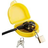 """haggiy pequeña caja estanca""""Medium"""" para enchufes grandes/gruesos: el bloqueo y etiquetado contra las reconexiones de enchufes de seguridad"""
