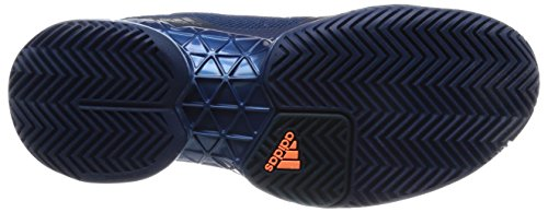 adidas Unisex-Erwachsene Barricade 2017 Tennisschuhe Blau (Mystery Blue/tactile Blue/glow Orange)