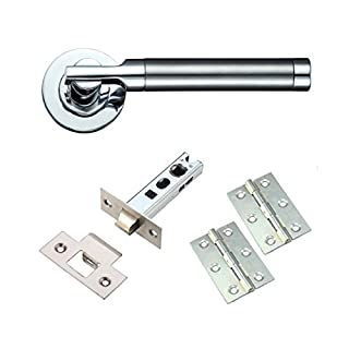 Dual Finish Internal Lever Door Handle Furniture Pack on Rose - 1 Pack