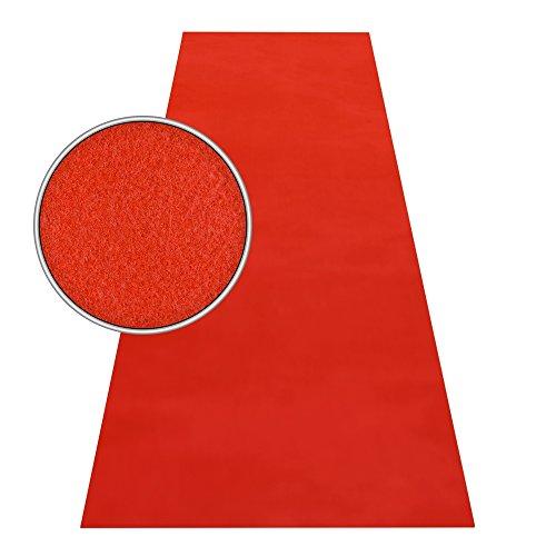 Roter Teppich VIP Läufer Event Teppich Premierenteppich Wunschmaß rot 1m, Länge:600 cm (Roten Teppich)
