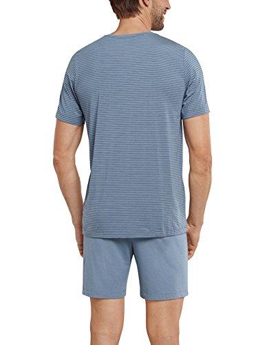 Schiesser Herren Schlafanzughose Anzug Kurz Grau (graublau 209)