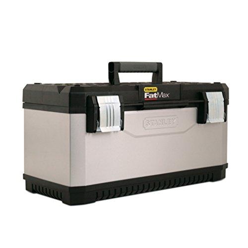 """Stanley FatMax Werkzeugbox Metall-Kunststoff, 23"""", Trage, Aussparung, Bi-Material Griff, rostfreie Schließen, 1-95-616"""