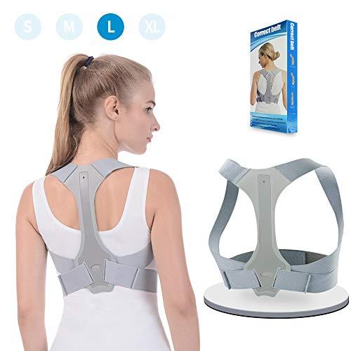 Haltungskorrektur ANOOPSYCHE Geradehalter Schulter Rückenstütze Verstellbare für eine Gesunde Haltung,ideal zur Therapie für haltungsbedingte Nacken,Rücken und Schulterschmerzen für Damen und Herren L