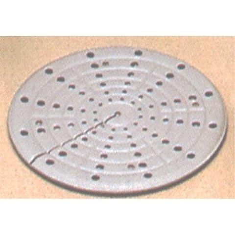 Truka - Ampio diffusore di calore in metallo a doppio strato, da 16 cm