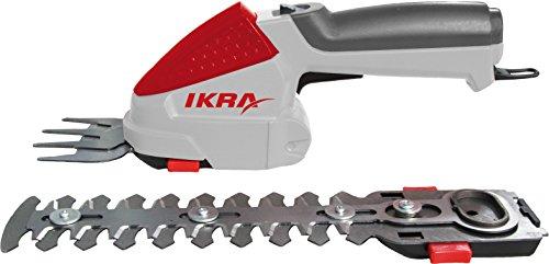 IKRA Akku Grasschere Strauchschere 2in1 IGBS 1054 LI 7,2V Laufzeit max 175 Min inkl Akku Ladegerät & Tasche