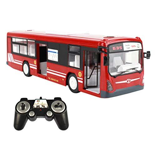 MAJOZ RC Auto, 2.4GHz Ferngesteuertes Bus mit realistischen Tönen und Licht-Öffnung Türen Volles Funktions-RC Spielwaren für Kind