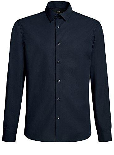 oodji Ultra Herren Hemd Extra Slim Fit Basic Blau (7900N)