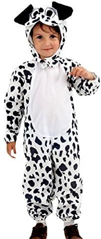 erdbeerloft - Jungen Mädchen Dalmatiner Kostüm, Tier, Karneval, Fasching, 2-teilig, 2-3 Jahre, (Dalmatiner-kostüm Für Kleinkind)