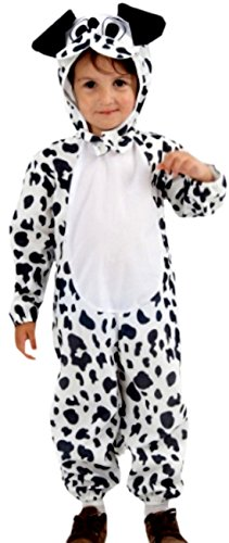 erdbeerloft - Jungen Mädchen Dalmatiner Kostüm, Tier, Karneval, Fasching, 2-teilig, 2-3 Jahre, (Kostüm Mädchen Dalmatiner 101)