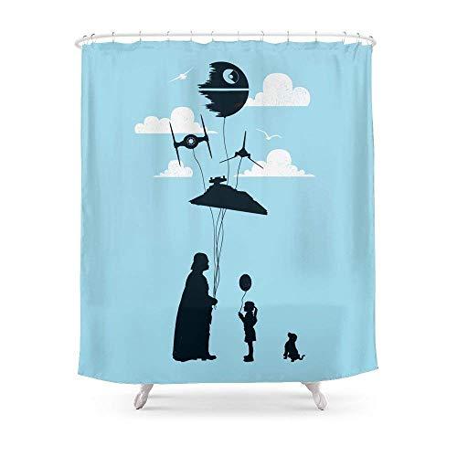 Suminla-Home Badezimmer Darth Vader Parodie Art Vorhang für die Dusche 182,9cm by 182,9cm