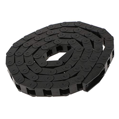 B Blesiya 1m Schwarz Kunststoff Schleppkette Kabel Draht Träger CNC Router Für 3D Drucker - Schwarz 7mm x 7mm
