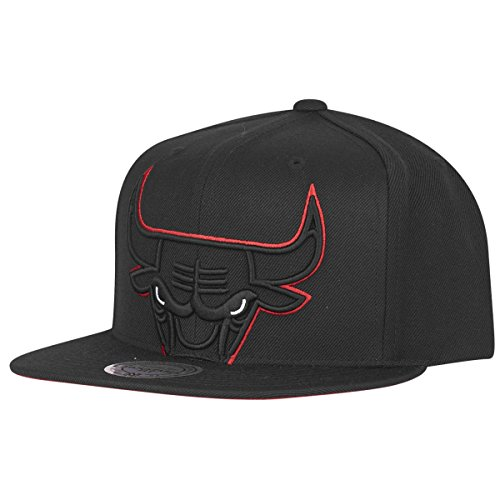 Mitchell & Ness Herren Caps/Snapback Cap Raised Perimeter Chicago Bulls schwarz Adjustable