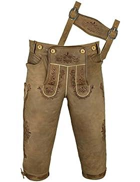 Kniebundhose Leder Antik Nubuk- Trachtenlederhose Herren- Damen Kniebundlederhose -Trachten Lederhose Männer mit...