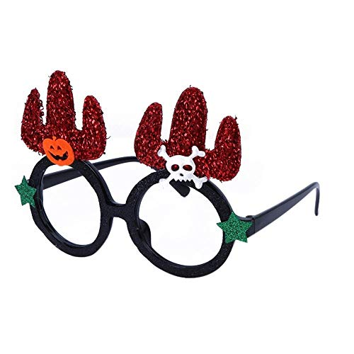 Asiproper Novelty Halloween Non Woven Fabrics Glasses Party Kid Adult Decor One Size Red