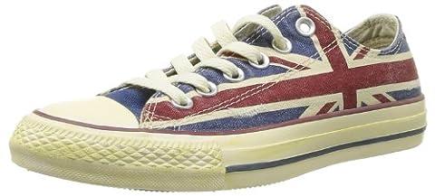 Converse Chuck Taylor All Star Union Jack, Baskets mode mixte adulte - Blanc (Blanc/Bleu/Rouge), 36 EU