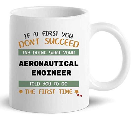 Not Applicable Ingeniero Aeronáutico Taza Taza de café - Regalo Divertido para Hombres Mujeres - Ingeniería 11 Oz Tazas Tazas Novedad