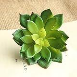 Yazidan Künstliche Sukkulenten Pflanzengarten Miniatur gefälschte Kaktus DIY Home Floral Decor Plastik Kaktus Deko Set für Party, Hochzeiten, Zuhause und Büro Dekor Grün