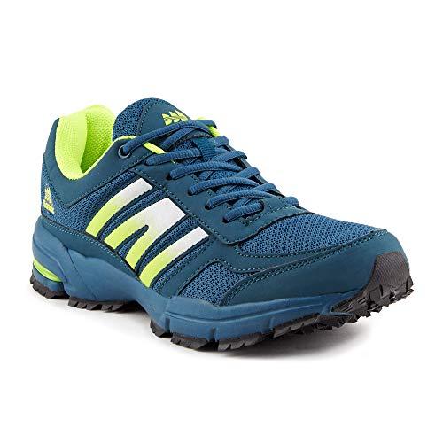 Fusskleidung Damen Herren Sportschuhe Unisex Neon Laufschuhe Übergrößen Trainer Gym Turnschuhe Blau Grün EU 46 (Under Herren Rot Armour Turnschuhe)