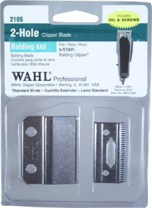 WAHL Professional 2 Hole Balding 6X0 Blade (Model: 2105) by Wahl