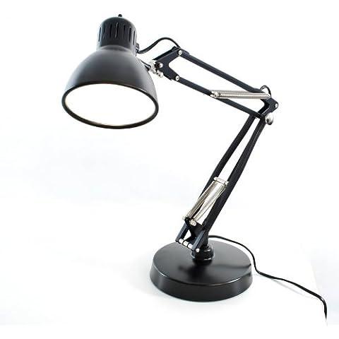 Nasketta Mini Schr eibtsich lampada, Alluminio, schwarz/matt/mit Tischfuß, mit Tischfuß, E27 220.00 volts