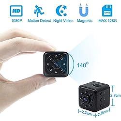 Caméra Espion, 1080P Mini Caméra HD Camera Cachée TANGMI Mini Caméra de Sécurité Détection de Mouvement Vision Nocturne IR pour la Maison, Bureau, Voiture, Drone