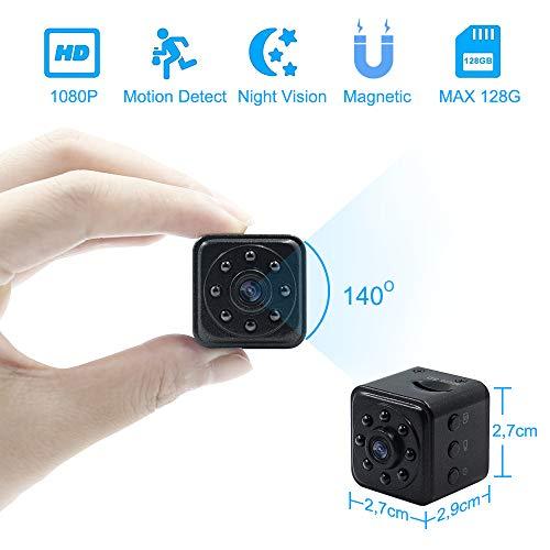 Telecamera Spia Nascosta Microcamere Spia Videocamera 1080P HD TANGMI Mini Spy Hidden Cam Motion Detection Visione Notturna IR per Casa, Ufficio, Auto, Drone