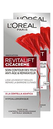 L'Oréal Paris Revitalift Cicacrème Soin Contour des Yeux Anti-Âge/Réparateur - Lot de 2