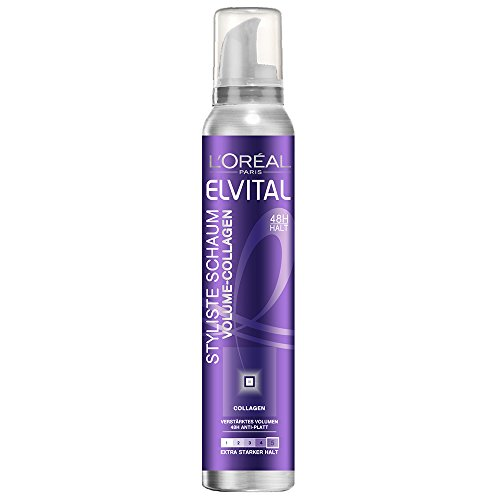 L'Oréal Paris Elvital Styliste Schaumfestiger Volume-Collagen, 2er Pack (2 x 150 ml)