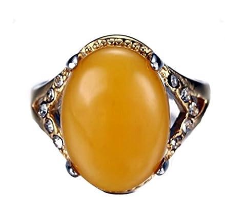 Daesar Edelstahl Ring IP Synthetic Ring Mit Stein Damen Ring Größe:57 (18.1)