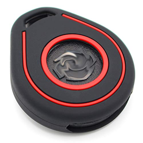 Silicone HAB Motorcycle Key Case, Keyless Go Black Red