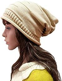 SCRAF Pliegues De La Mujer Montón Montón Otoño E Invierno Sombrero Moda  Casual Sombrero Hecho Punto Sombrero De Lana Color… f4fd7398116