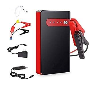12000mAh del banco portable de la energía del salto del coche del arrancador, 12V Auto batería de refuerzo, con puerto USB/Tipo-C Cable/linterna LED para viajes, camping, emergencia,Rojo