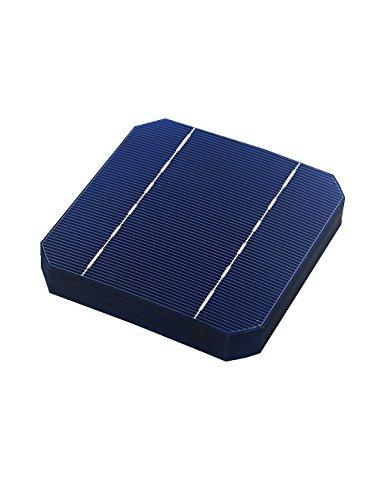 Vikocell 10pcs Solarzellen 5x5 2.7W, Grad A, monokristalliner Silikon PV Wafer für DIY Haus Photovoltaik Sonnenkollektoren