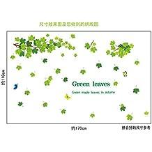 Extraíble gran hojas verde home adhesivo de mural arte vinilo adhesivo de pared de pvc impermeable DIY Decor
