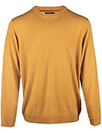 Blu Cherry Men's Crew Neck Pull Over Jumper Sweater Long Sleeve All Year Round Cashmere Like