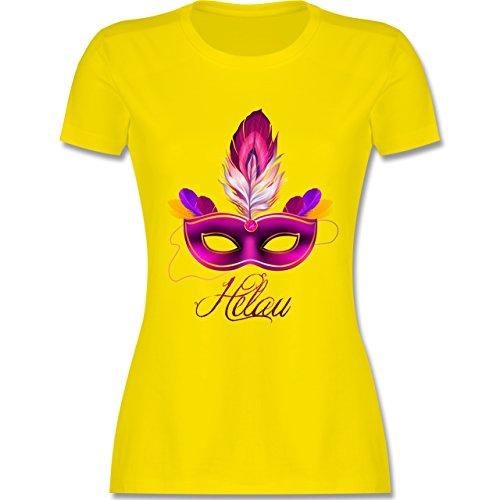 Karneval & Fasching - Maske Helau - tailliertes Premium T-Shirt mit  Rundhalsausschnitt für Damen