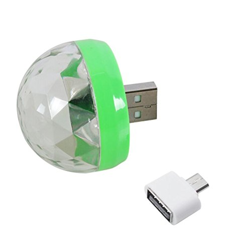 ukcoco USB Powered LED Disco Light Magic Ball Portable Sound Activated Multicolor für Home Party Light Geschenk-Weihnachten-Weihnachten-Halloween