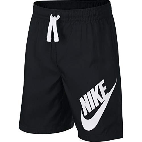 Nike Jungen Sportswear Shorts, Black/White, M