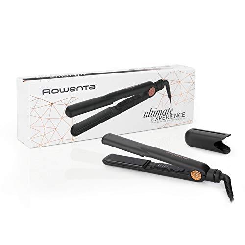 Rowenta Ultimate Experience SF8220F0 Plancha profesional con 5 ajustes de temperatura, deslizamiento perfecto, placas de anchas de 3 cm y calientamiento rápido, para todo tipo de cabellos
