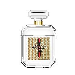 Lybenny Airpods Fall für Frauen Parfümflasche Fall Clear Skin Stoßfest mit Schlüsselbund Airpods Zubehör Mit einem Staubaufkleber (Flasche Biene)