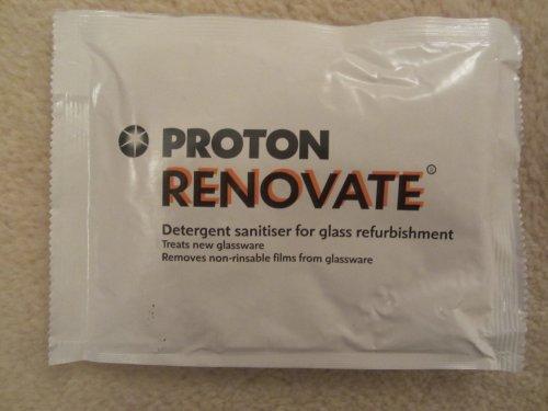Proton, modello Renovate vetro detergente 100 g, ideale per 'Renovating'New & Old vetro, rimuove i prodotti chimici formazione su vetro, per uso professionale Washers-in vetro